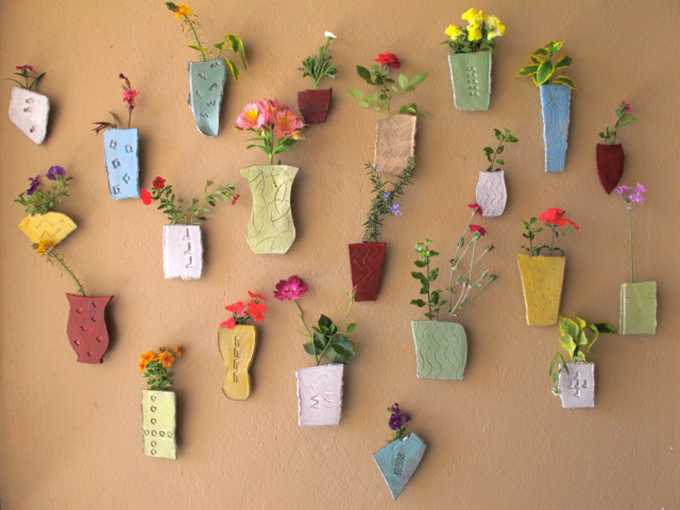 Wall Vases For Flowers Wall Ideas