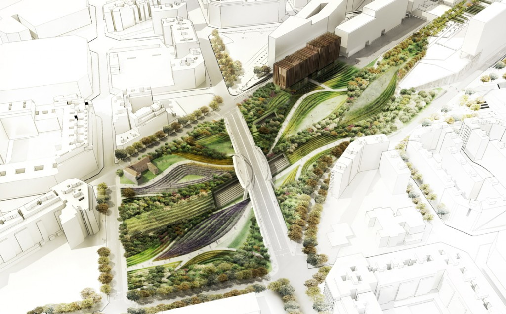 Linear park design indaba for West 8 architecture