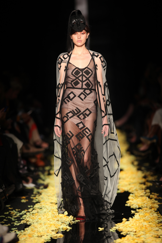 Imprint dress by Black Coffee, designer Jacques van der Watt, nominated by Aspasia Karras.