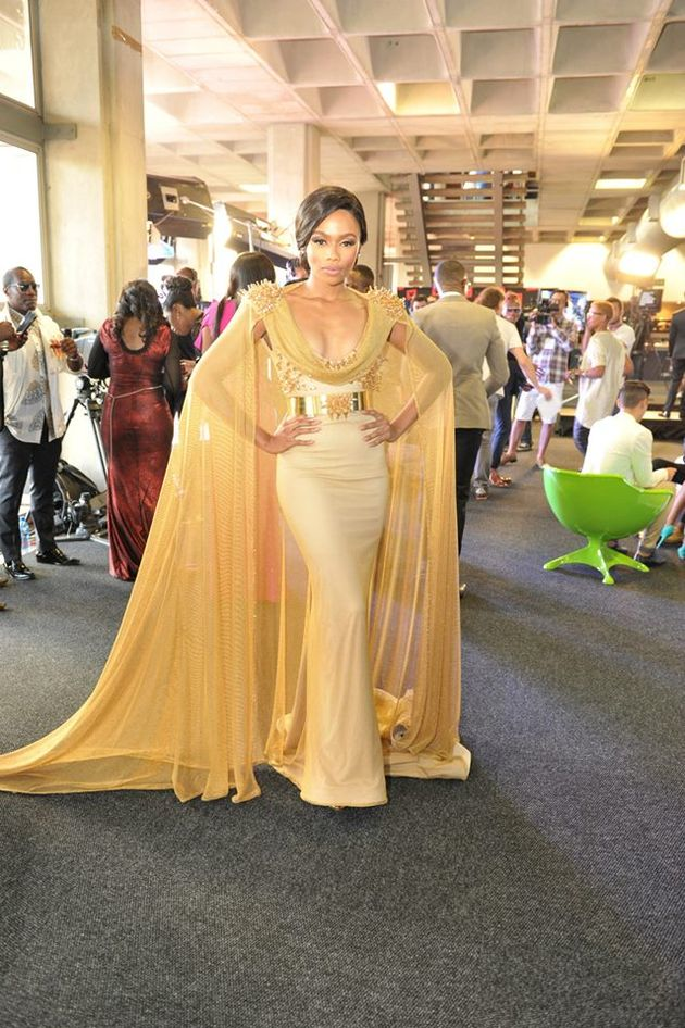 Gold Gert-Johan Coetzee Made with Swarovski Elements gown