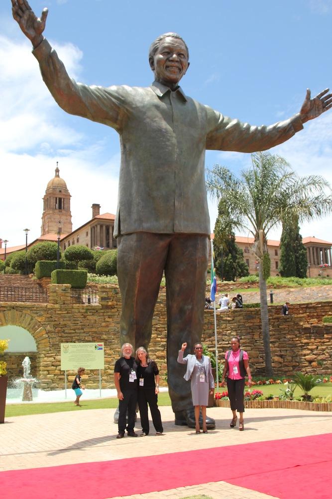 Nelson Mandela statue at Union Buildings, Pretoria, by Andre Prinsloo and Ruhan Janse van Vuuren.