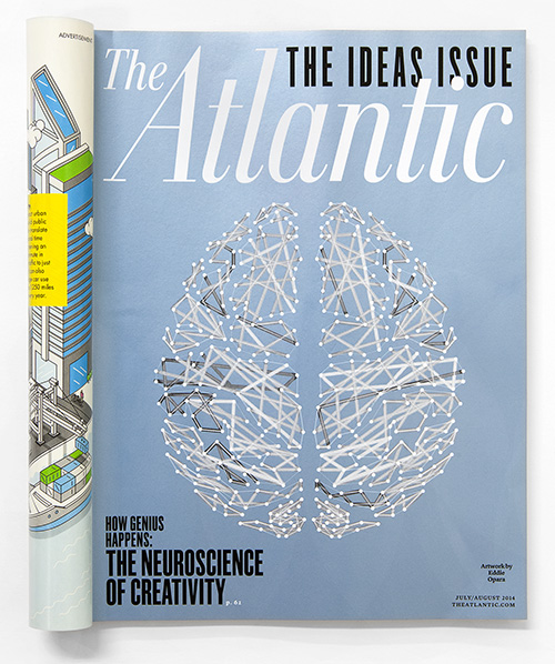 Eddie Opara's cover image for the Atlantic's annual Ideas issue, which explores creativity.