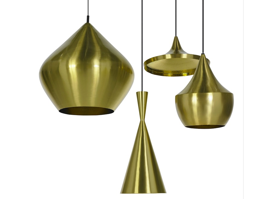 Beat Brass lamp by Tom Dixon.