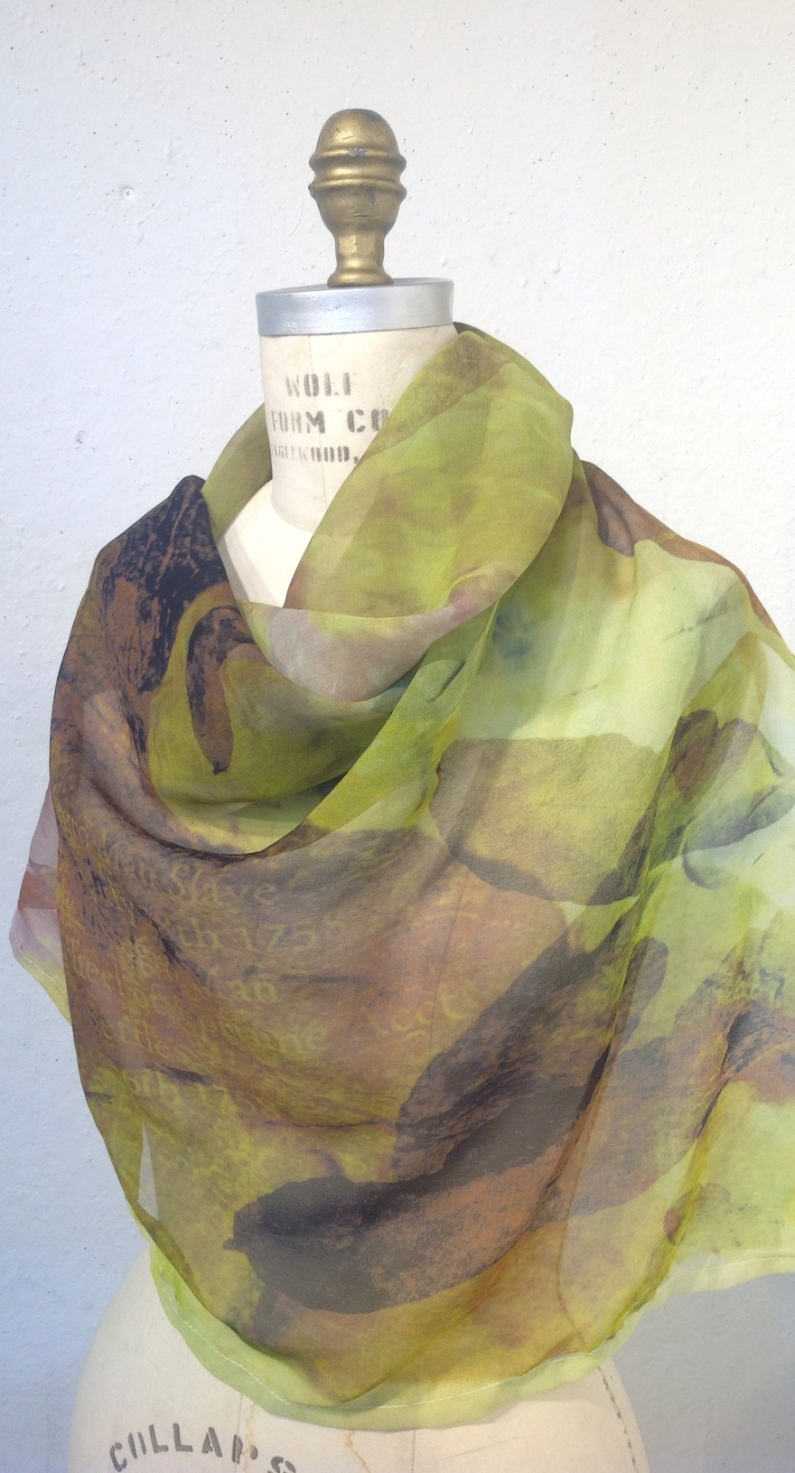 Printed scarf by Tia Blassingame.