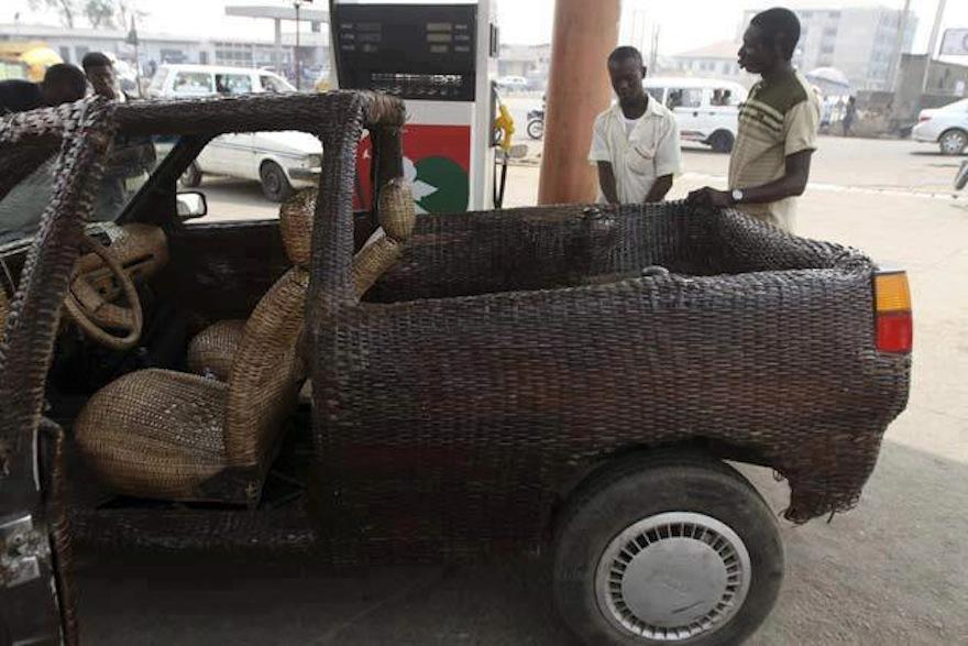 The world\'s first hand-woven raffia car in Nigeria   Design Indaba