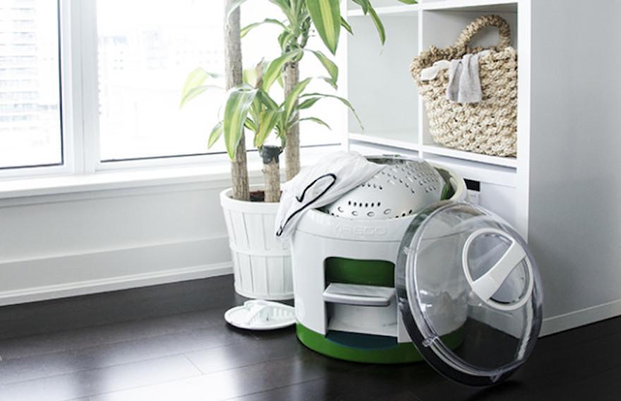 Miniwashing machine powered by peddling  Design Indaba -> Waschmaschine Ohne Strom