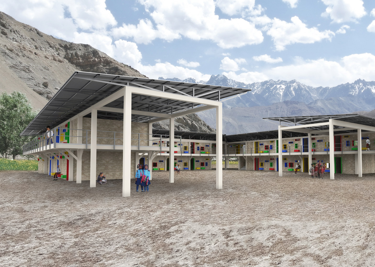 shop architects will build 50 resilient schools in nepal. Black Bedroom Furniture Sets. Home Design Ideas