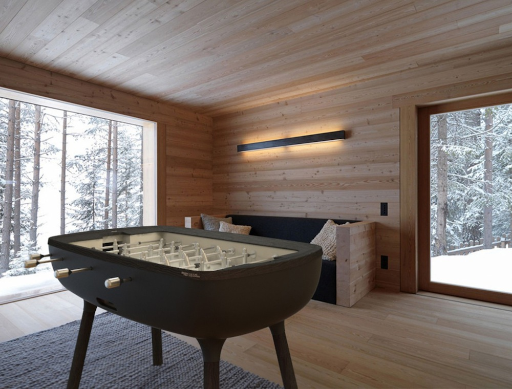 the classic foosball table gets a contemporary redesign. Black Bedroom Furniture Sets. Home Design Ideas