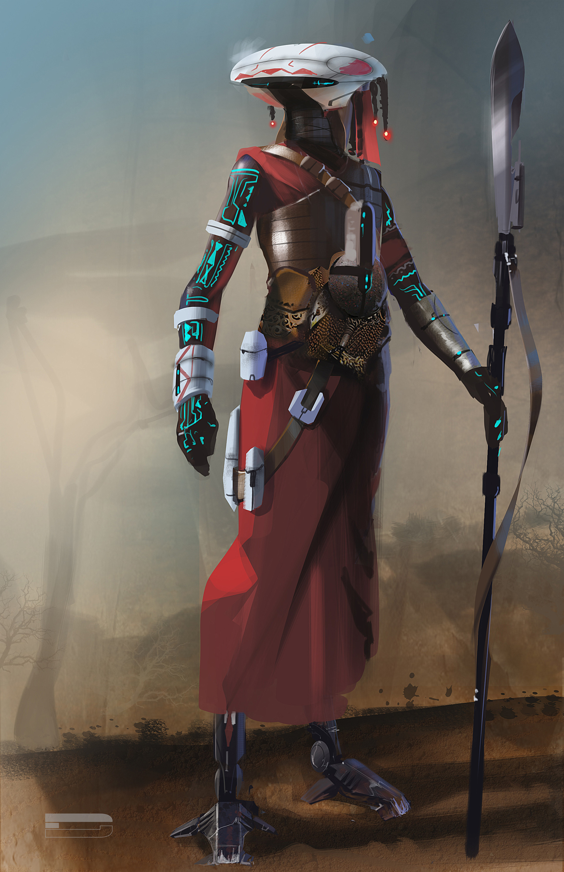Concept artist merges Maasai warriors with sci-fi tech ...  Concept artist ...