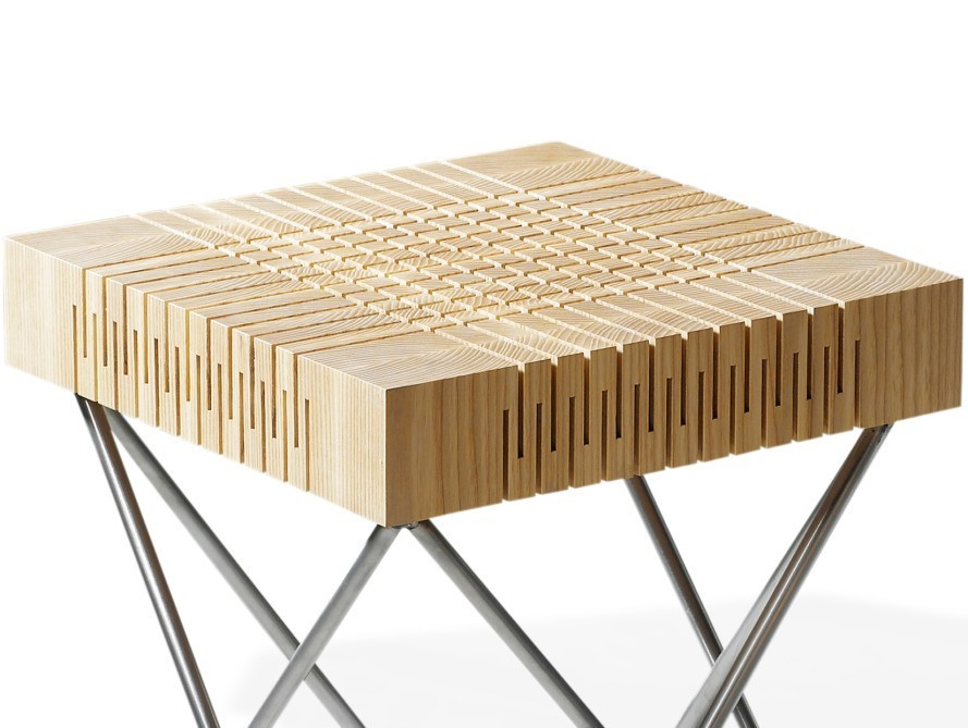 Laro developed the springy ash wood together with woodworking company  Ritmeester  To make the material  layers of wood are glued together to form  a single. Dutch designer creates flexible wood for furniture range   Design