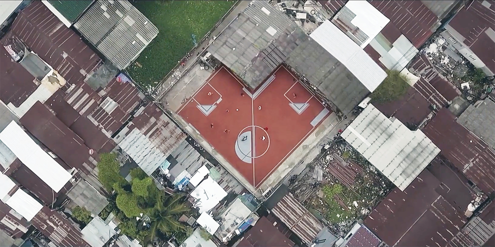 The Unusual Football Field