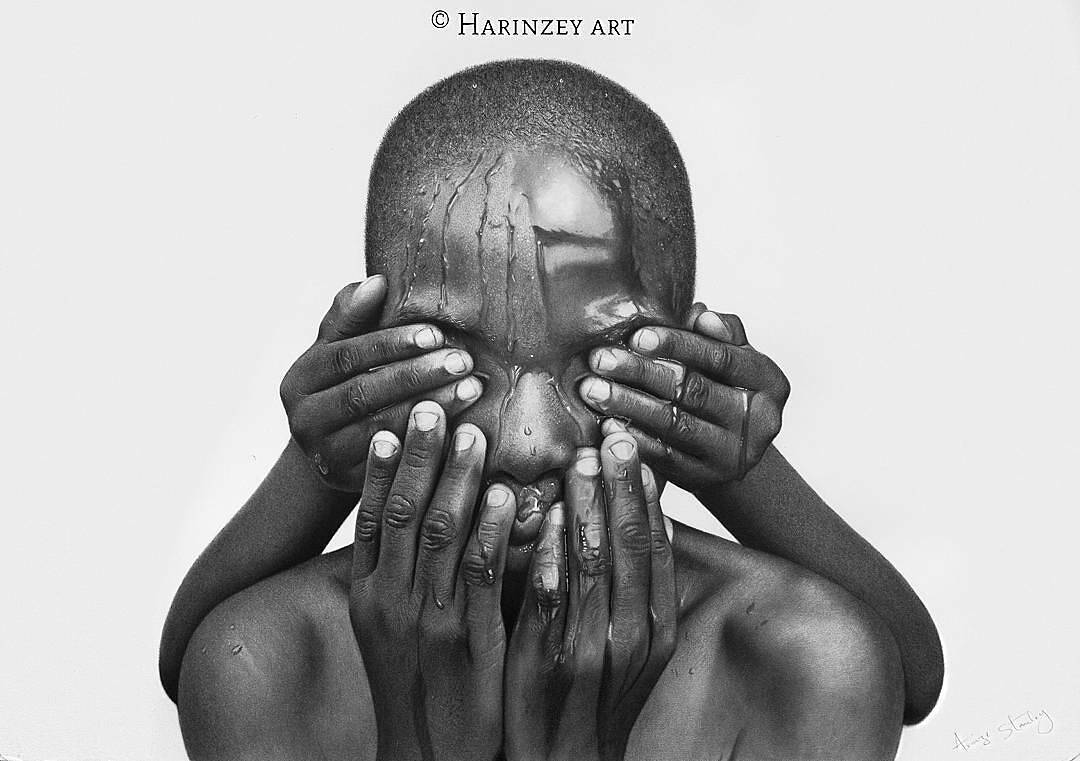 Theyre actually incredibly exhaustive pencil drawings done by emerging nigerian artist arinze stanley these hyper realistic sketches take over 200