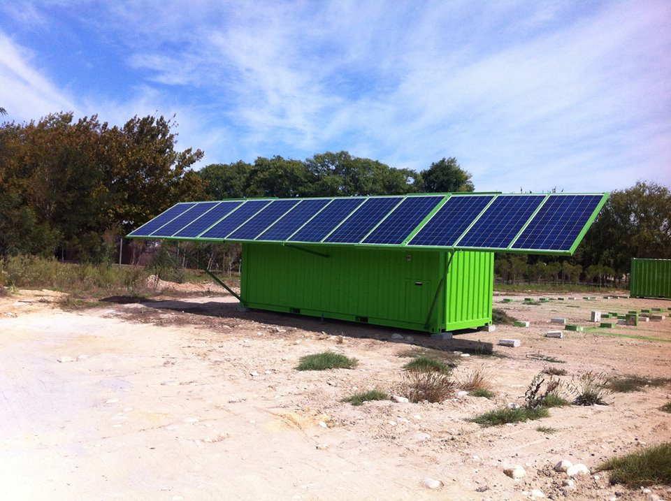 Turning Shipping Containers Into Renewable Solar Units