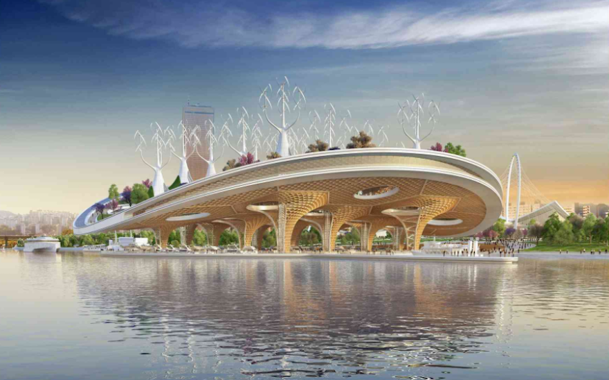 This futuristic cultural centre is inspired by the sea ...