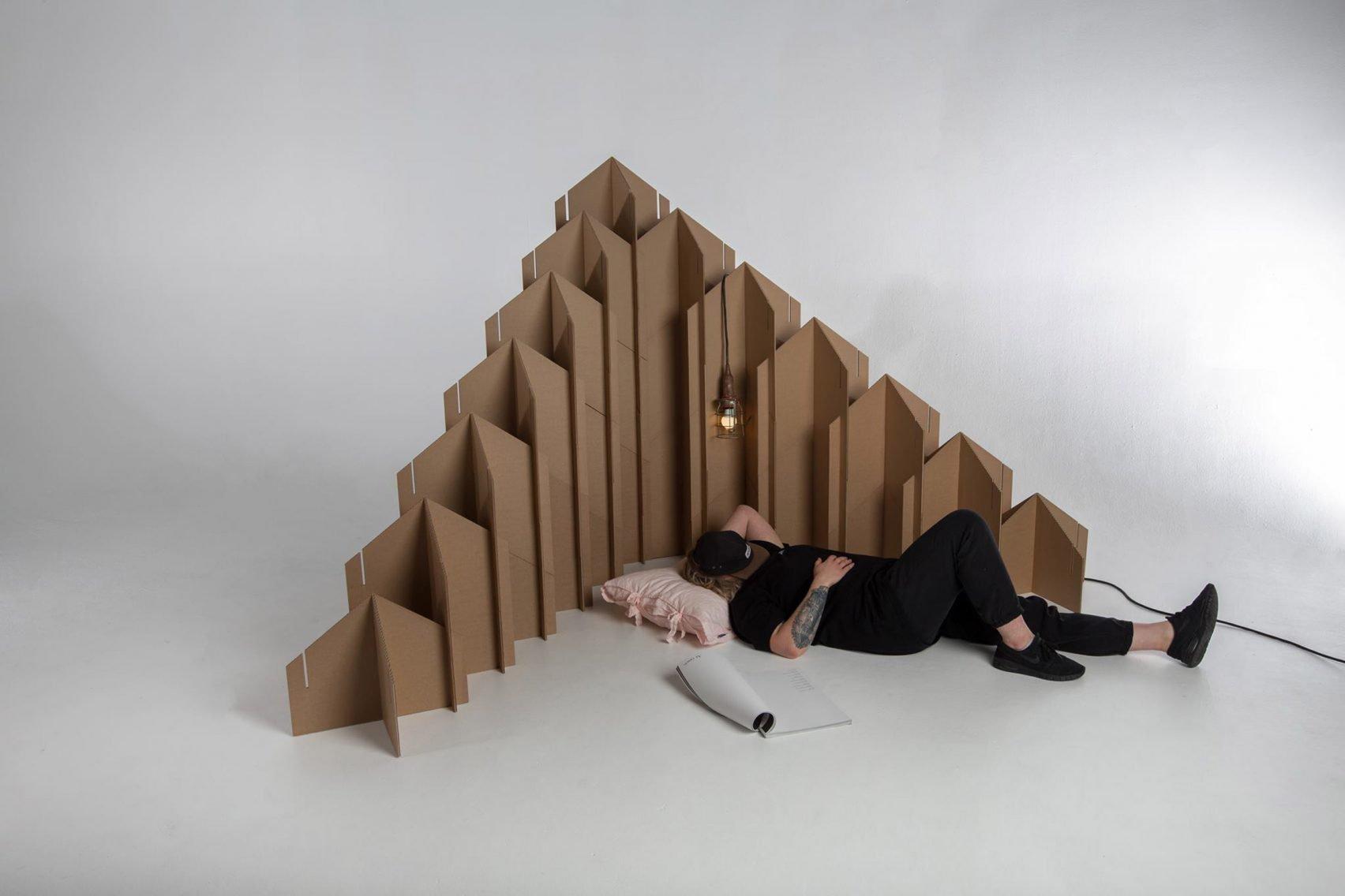 Students design temporary furniture for displaced people | Design Indaba