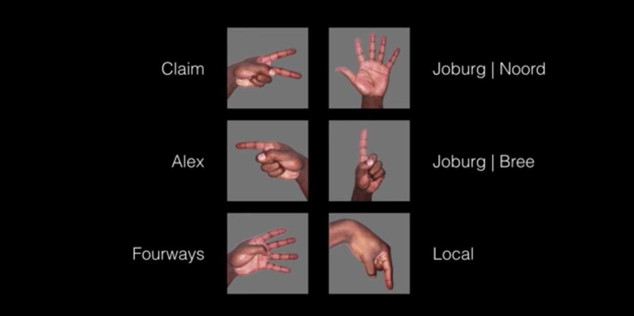 Minibus Taxi Hand Signals