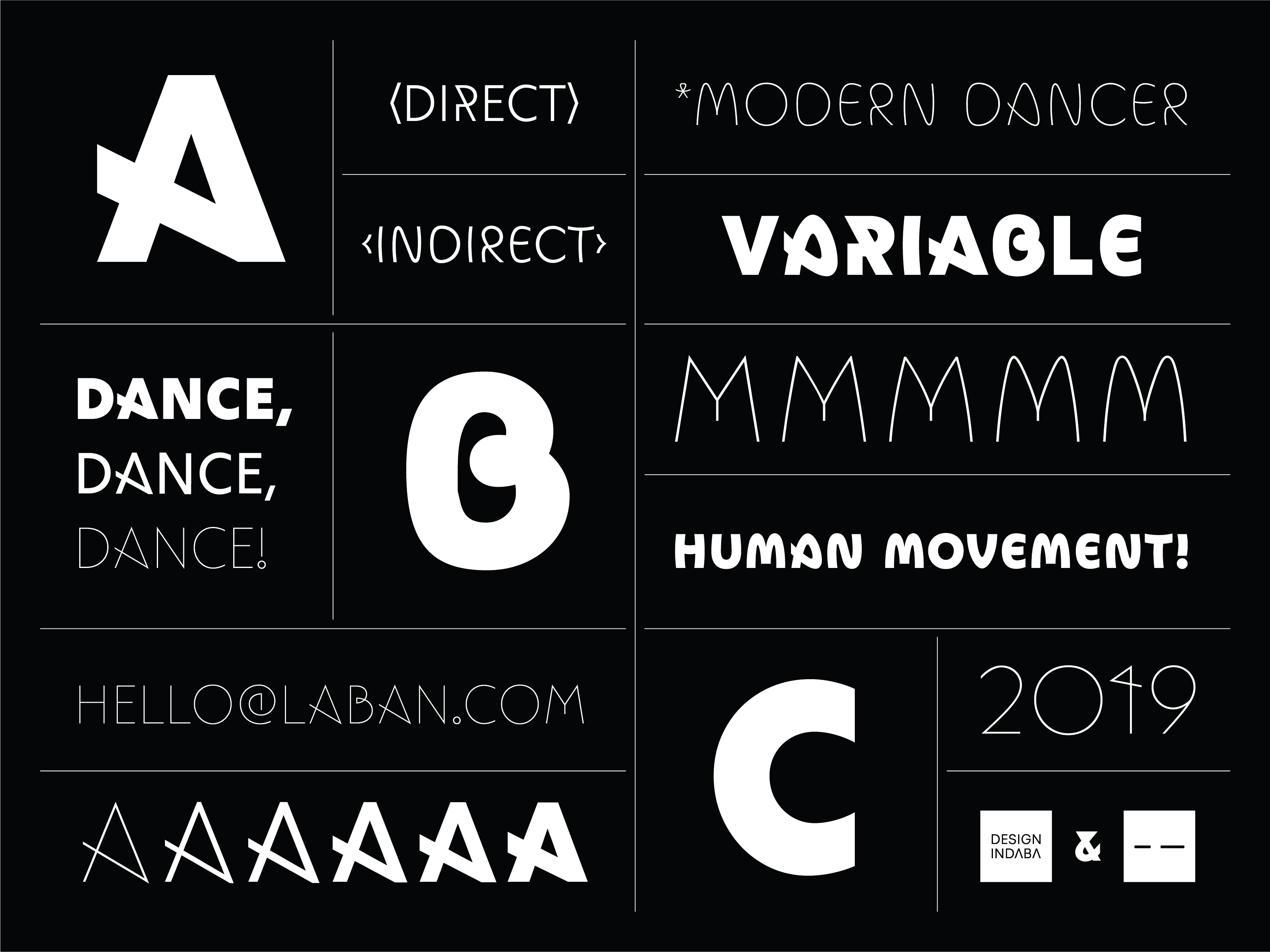 Typeface Inspired By The Movement Of Dance