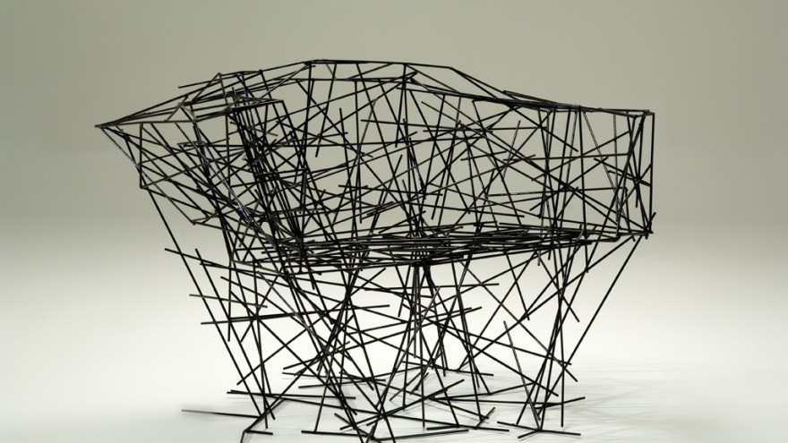 1.	Black iron chair for Luis Calazans by Humberto and Fernando Campana