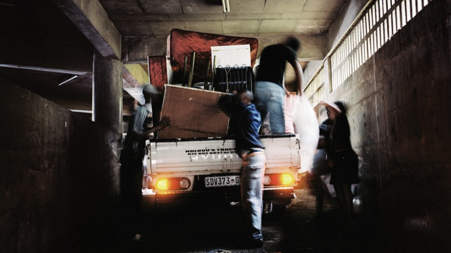 Moving In, Ponte City, Johannesburg, 2009. Photos by Mikhael Subotzky and Patric