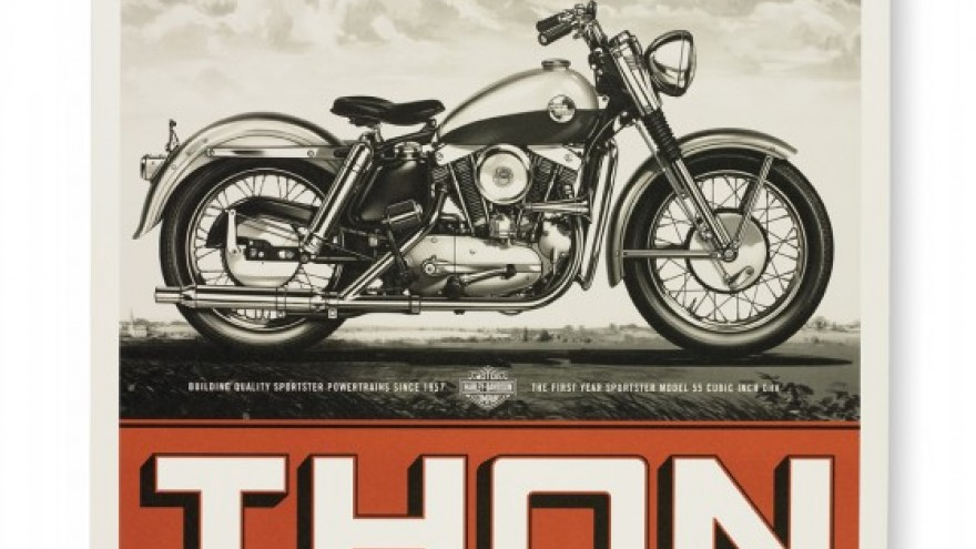 Harley Davidson Eaglethon poster. Courtesy of Dana Arnett / VSA Partners.