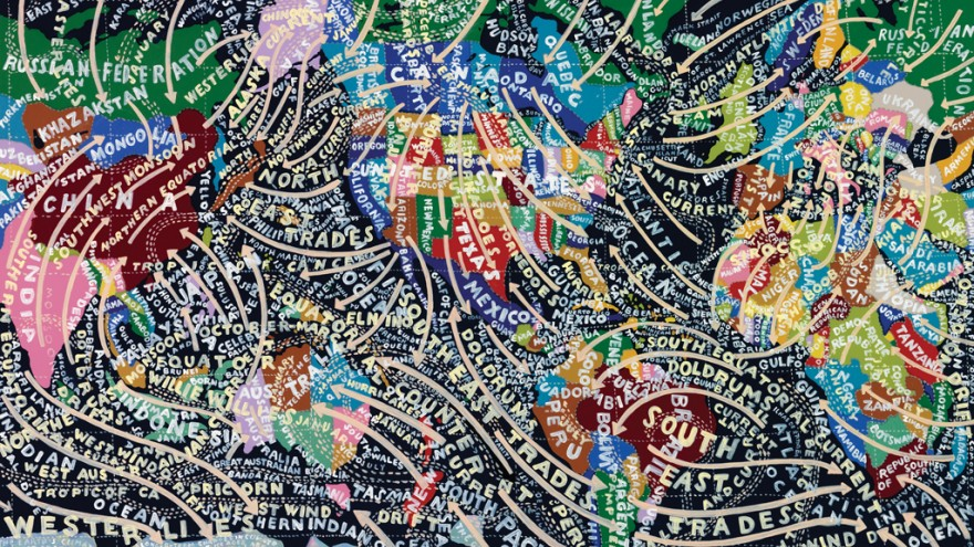 The Global Climate painting. Courtesy of Paula Scher / Pentagram.
