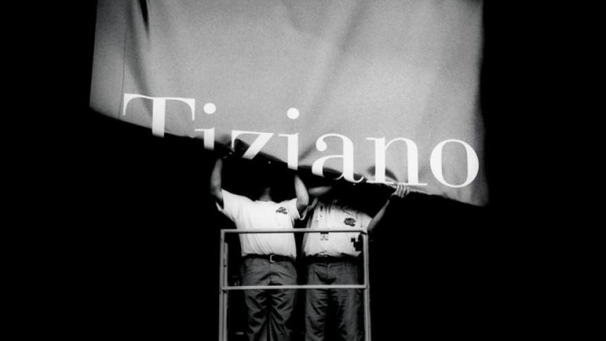 Tiziano exhibition banner for Prado Museum in Barcelona, Spain. Courtesy of Fern