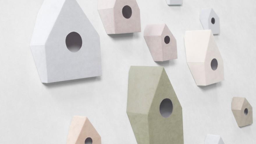 Non-slip birdhouse by Nendo. Photo: Hiroshi Iwasaki.