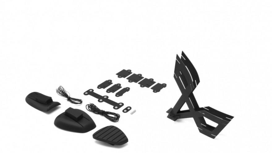 Assembling the Flat Pack shoe: Step 2.