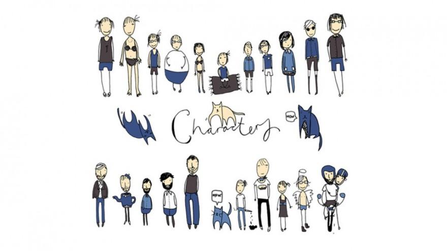 Characters by Lauren Fowler.