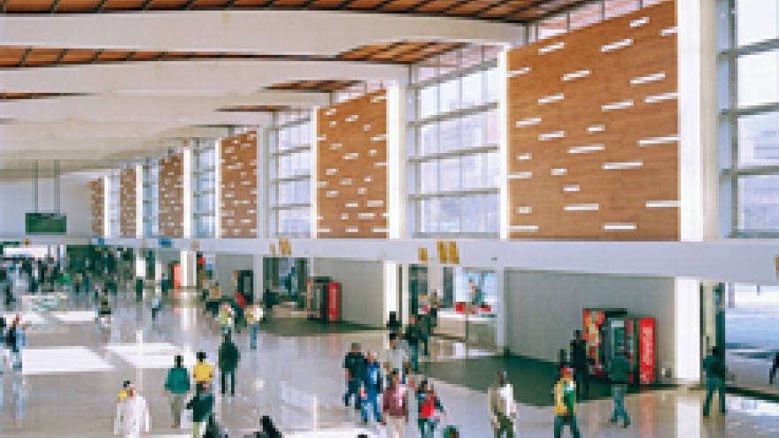 Revamped interior of Cape Town Station by Mokena Makeka.