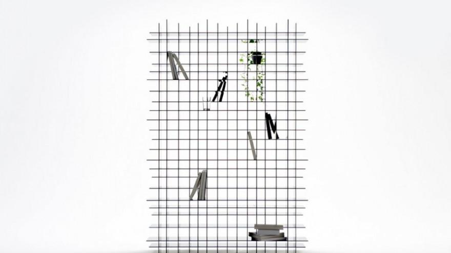 Scatter Shelf by Nendo. Photo: Masayuki Hayashi.