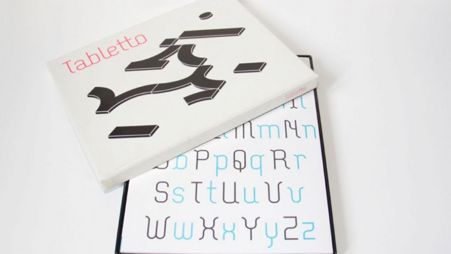 Tabletto typographical game.