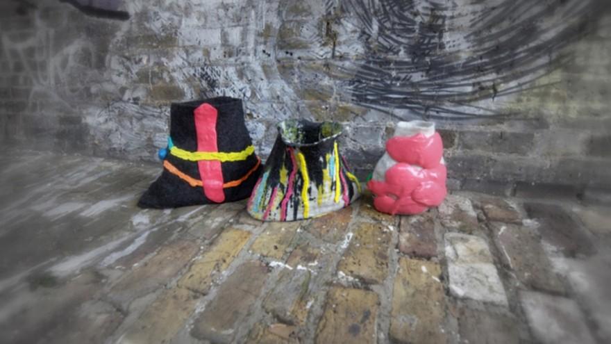 Wonky Pots by Vanja Bazdulj. Photo: Zandi Dezman.