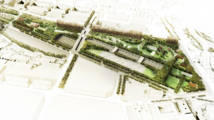 Linear park design indaba for Linear organization in architecture