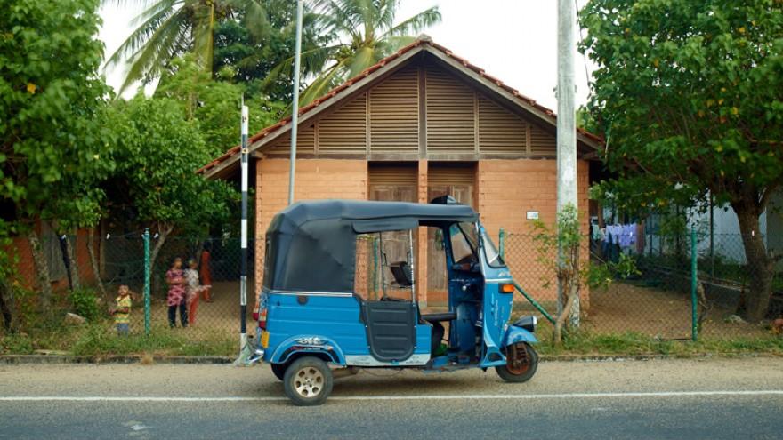 Post-Tsunami Housing by Shigeru Ban, Kirinda, Sri Lanka.