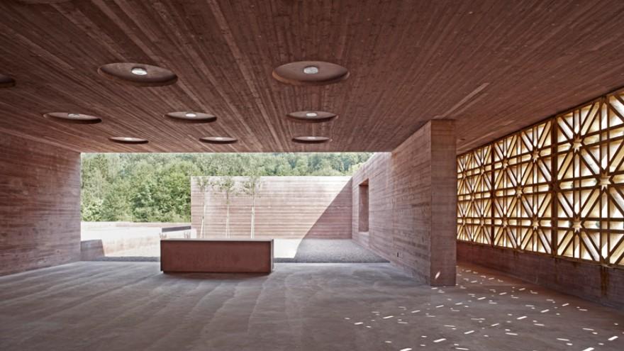 Islamic Cemetary at Altach by Bernado Bader Architects, Altach, Austria.