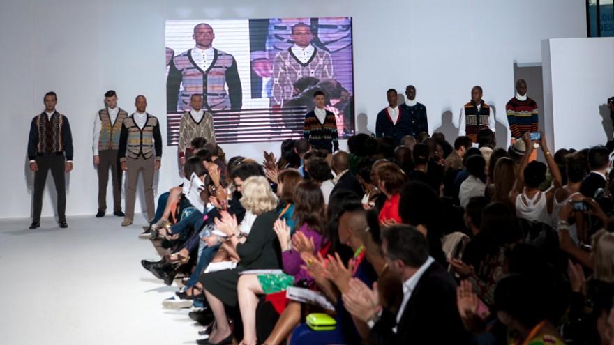 Laduma Ngxokolo at Labo Ethnik Fashion Weekend.