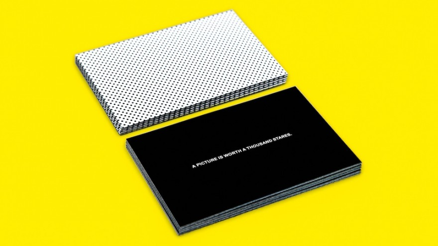 Halftone Satisfaction card set by Sagmeister and moo.com.