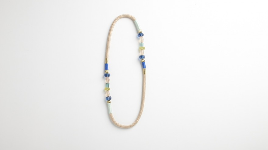 Two strand Glass Ndebele necklace from Pichulik's 2014 Spring/Summer Collection.