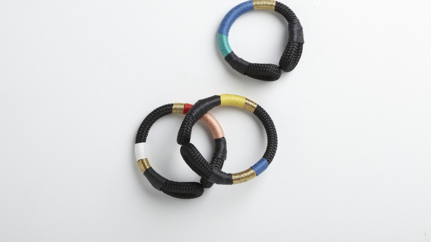 Curved bracelet from Pichulik's 2014 Spring/Summer Collection.