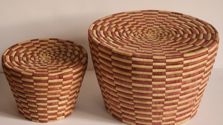 Cone Nesting Stools designed by Rentaro Nishimura and made by Mango Club for People of the Sun, Malawi.