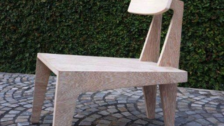 Plywood chair by Issa Diabaté, Koffi Diabaté Architects, Ivory Coast.