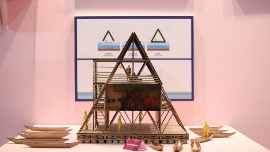 Kunlé Adeyemi's Makoko Floating School at the Africa is Now exhibition.