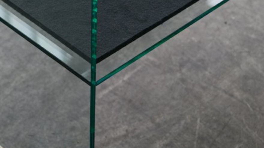 Diapositive bench detail by the Bouroullec Brothers for Glas Italia.