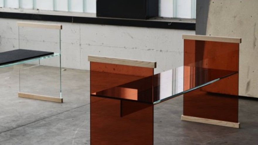 Diapositive bench by the Bouroullec Brothers for Glas Italia.