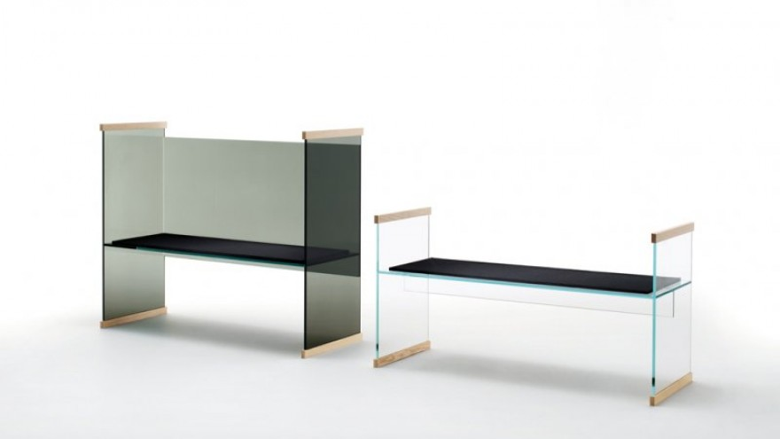 Diapositive sofa and bench by the Bouroullec Brothers for Glas Italia.