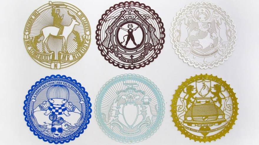 These doily designs make Mr Somebody & Mr Nobody remember long international flights, fast cars, fat chickens, six fingers and how he has to run for a patch of shade so that his shoes don't melt on a hot day.