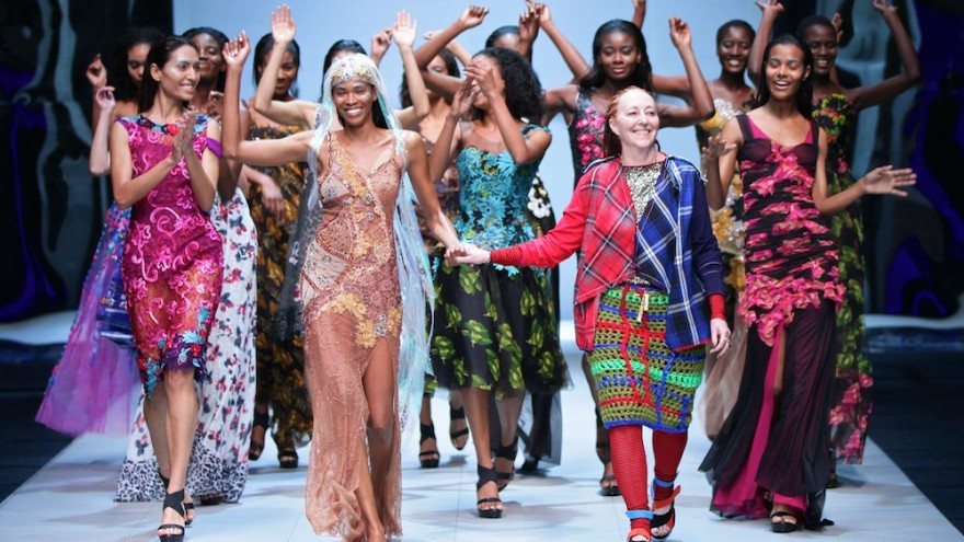 Marianne Fassler Spring Summer collection 2015 shown at the Mercedes-Benz Fashion Week Cape Town. Image: Simon Deiner / SDR Photo.