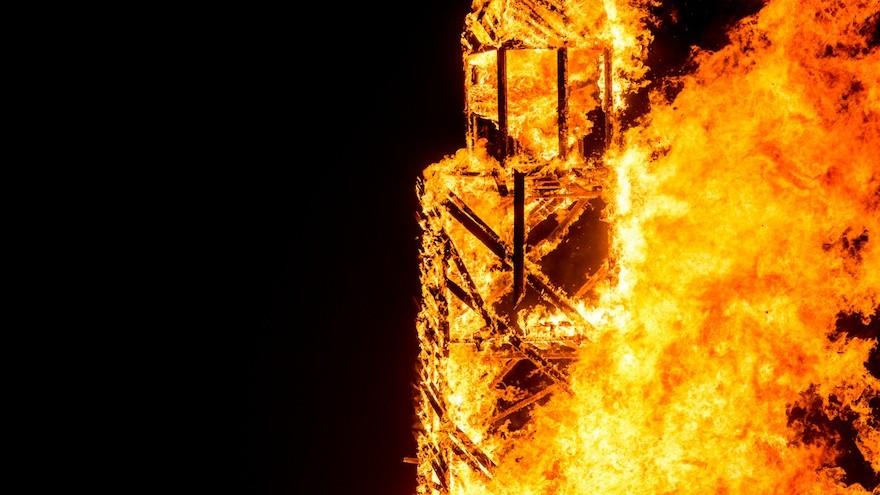The Lighthouse was burnt on Sunday night.