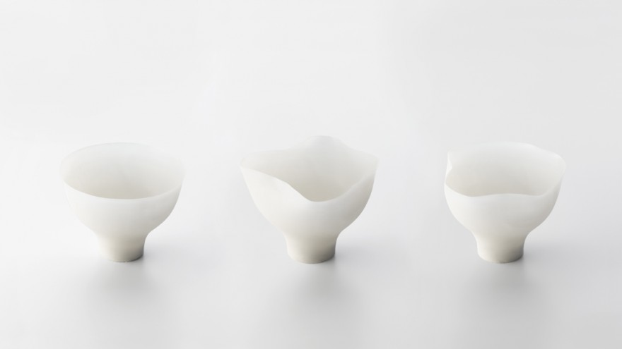 Shivering Bowls by Nendo. Photo: Hiroshi Iwasaki.
